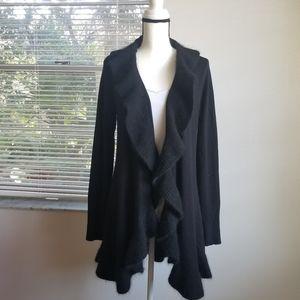 White House Black Market wool Draped Cardigan